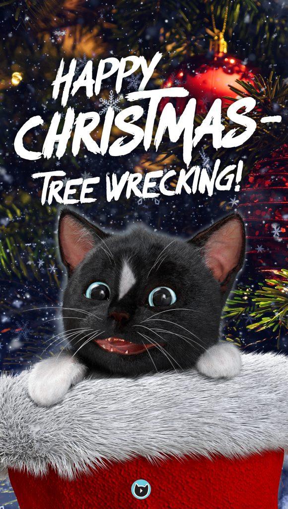 meowy catmas & happy christmas tree wrecking