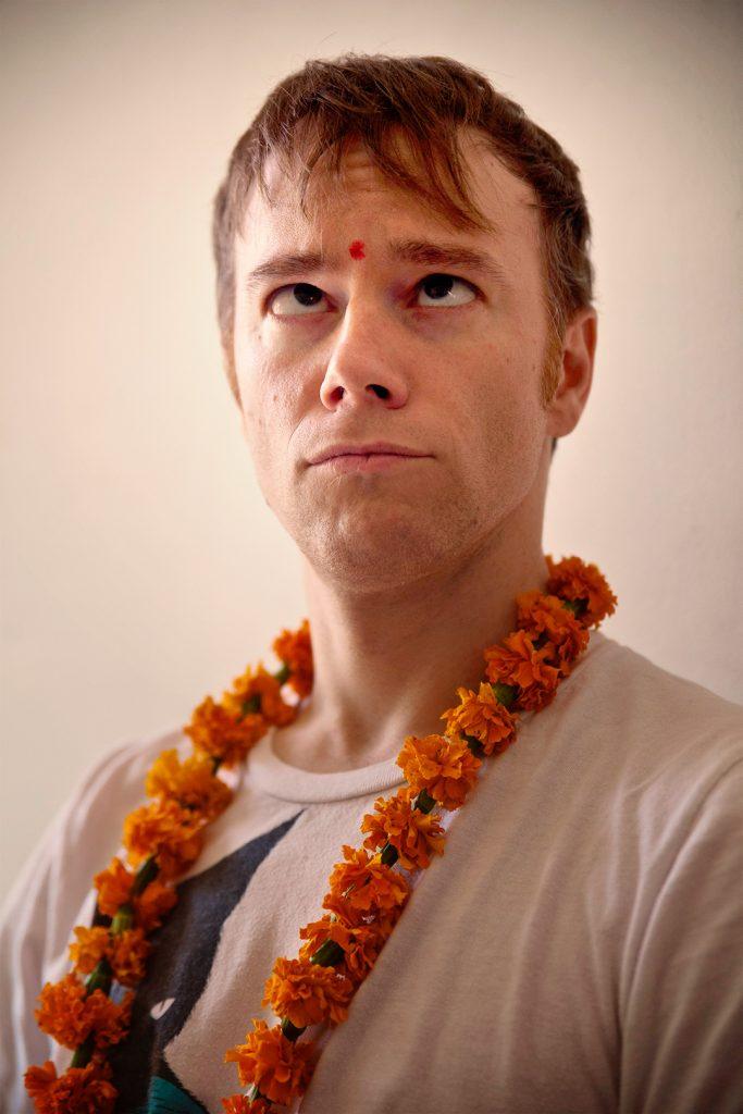 Til Vogt in India with Bindi Dot